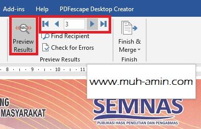 Membuat sertifikat otomatis dengan Word dan Excel