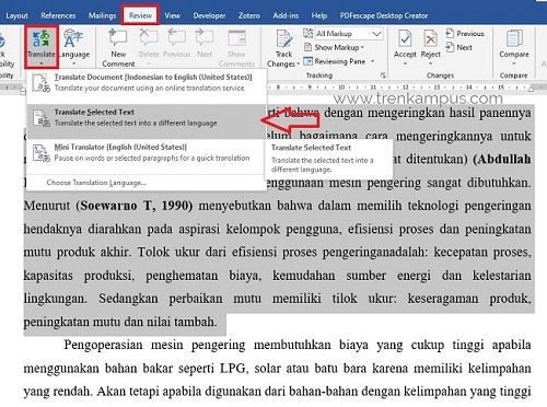 Cara translate bahasa inggris indonesia