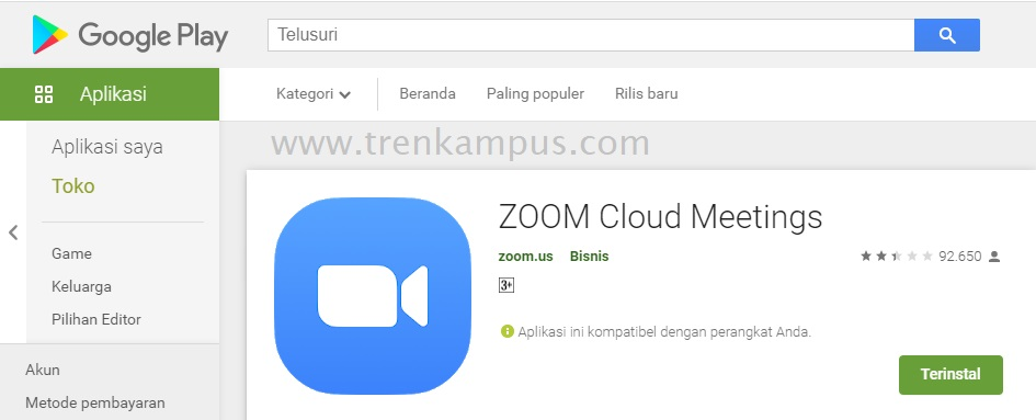 Aplikasi Zoom Cloud Meetings