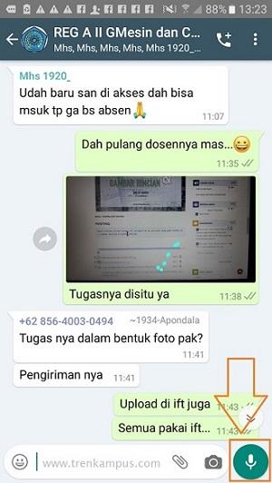 Kuliah online dengan WhatsApp